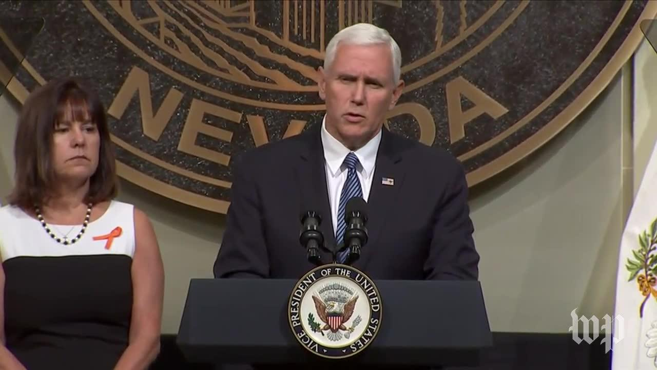 'Today, We Are All Vegas Strong': Pence Pays Tribute To The Lives _...