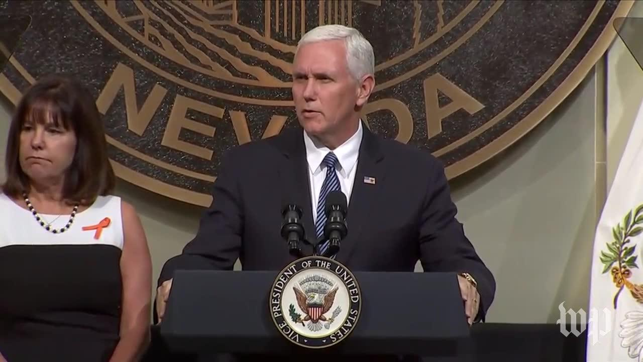 Pence'S Full Speech Honoring Victims Of Las Vegas Shooting