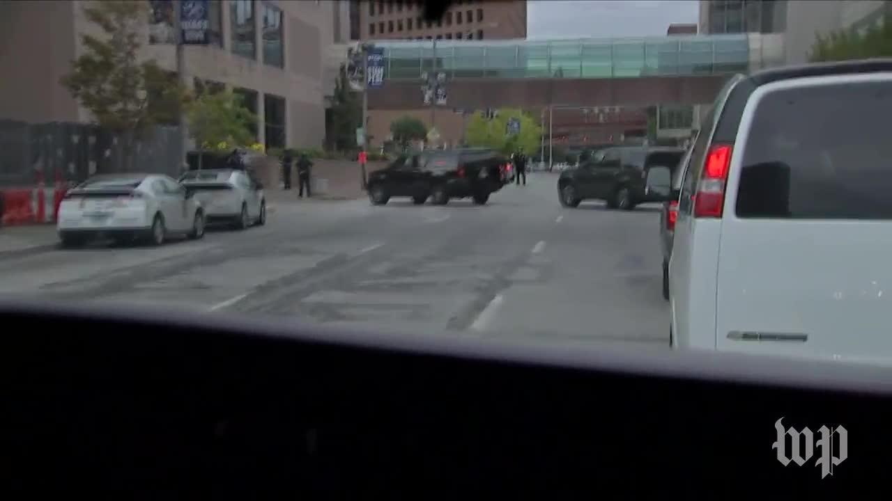 Pence Motorcade Leaves Indianapolis Colts Game