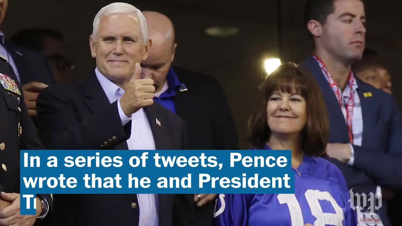 Pence Leaves Nfl Game After National Anthem Protests