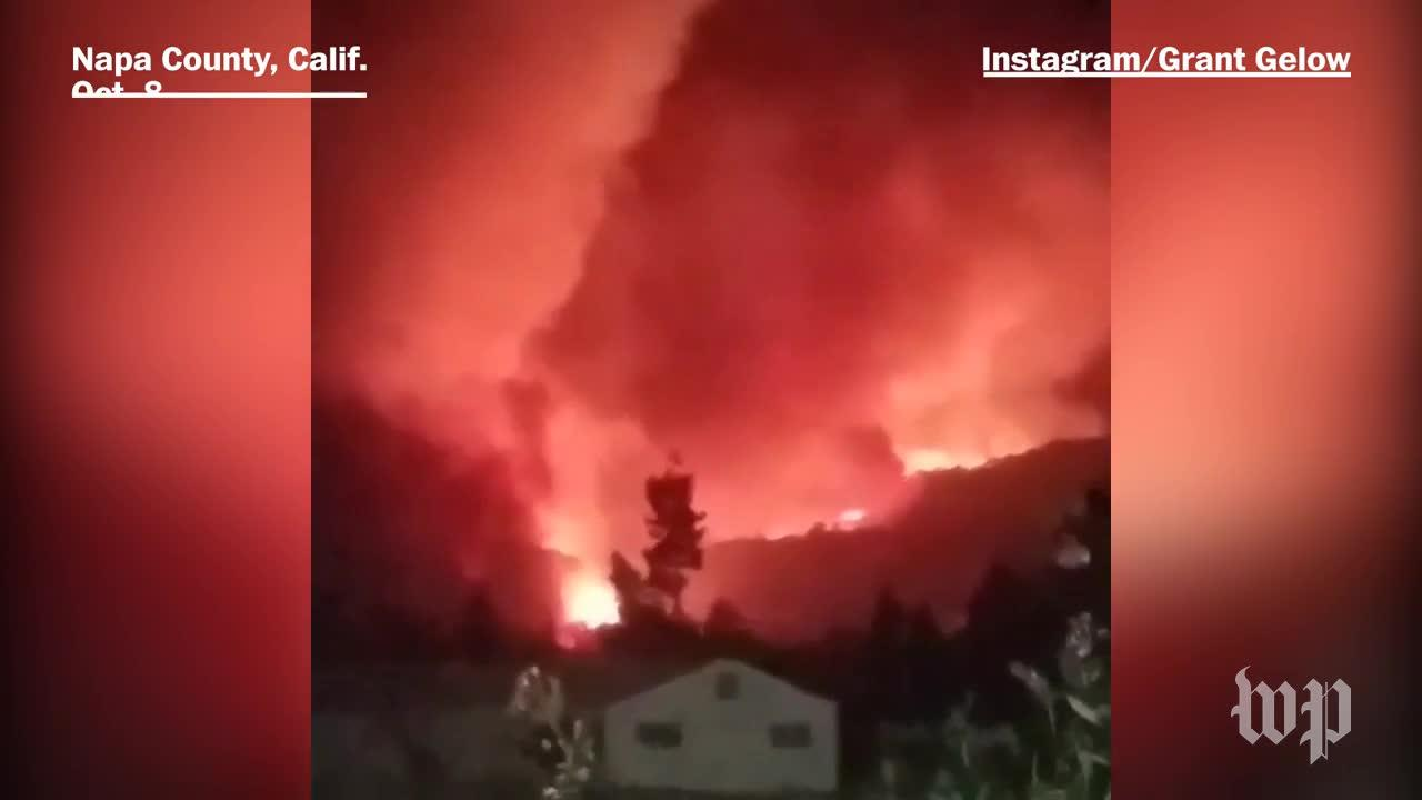 'This Is My Neighborhood, In Flames.' Californians Evacuate From W_...
