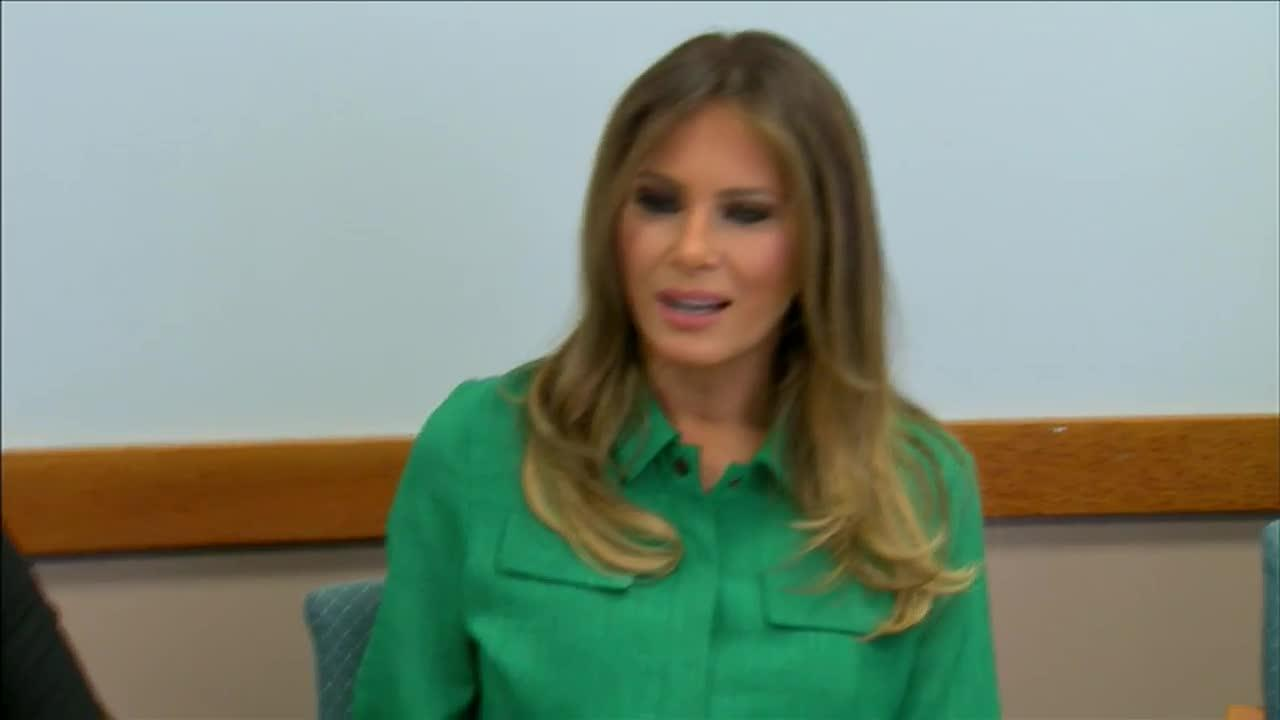 Melania Trump Visits Opioid Recovery Center