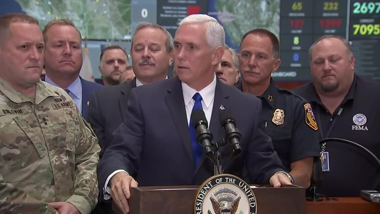 Pence Visits Wildfire Emergency Response Center
