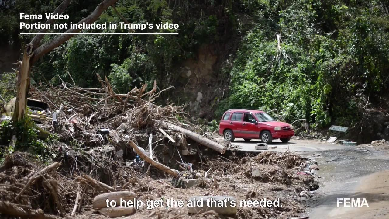 Cherry-Picked Clip In Trump'S Puerto Rico Relief Video