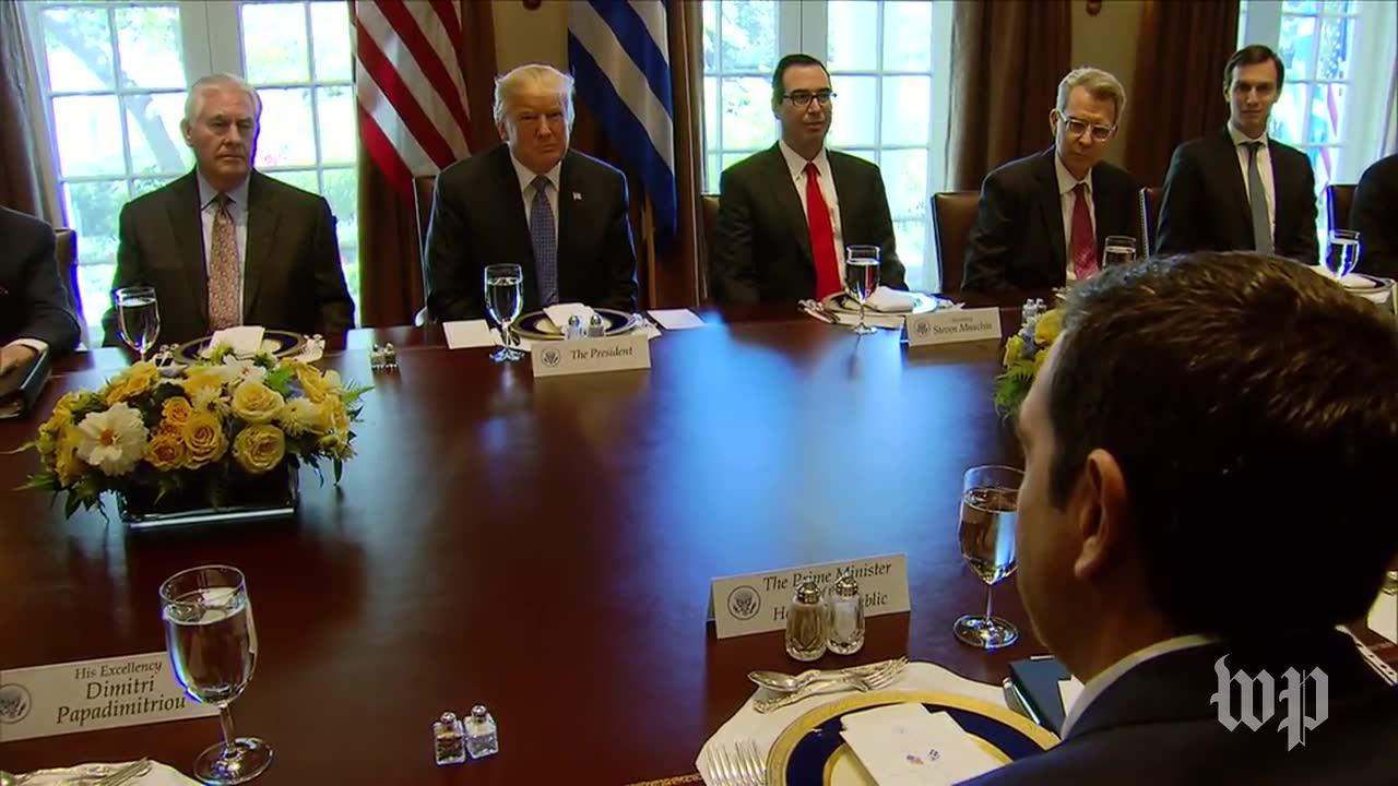 Trump Hosts Working Lunch With Greek Prime Minister