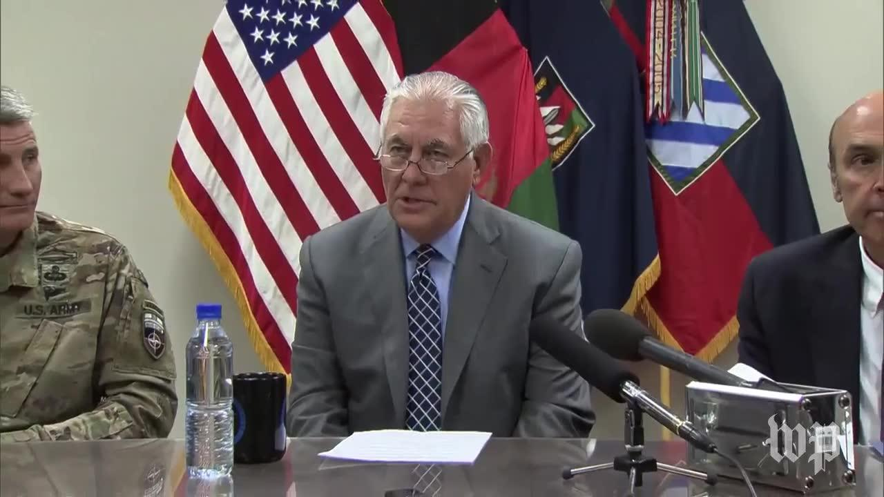 Secretary Of State Tillerson Makes Surprise Trip To Afghanistan