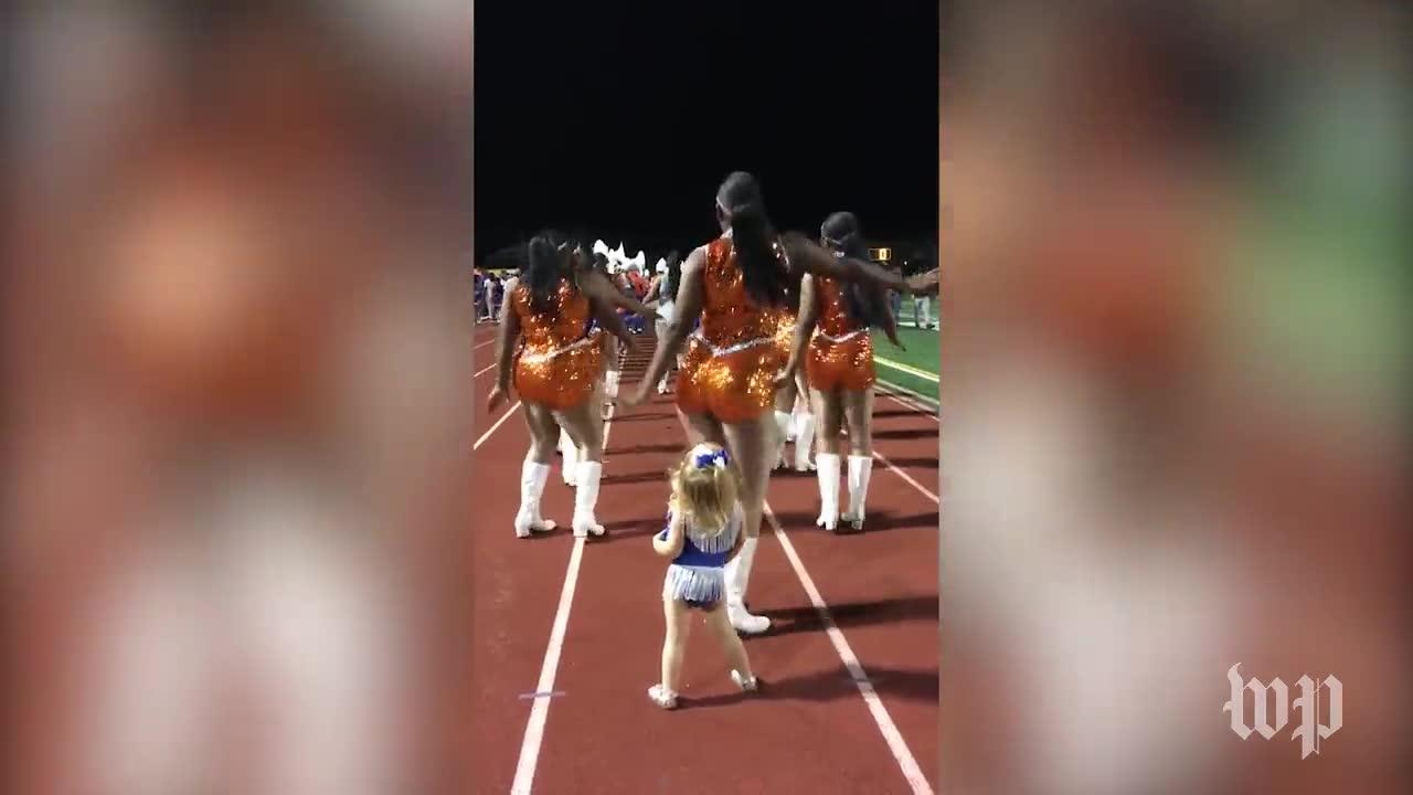 Adorable Toddler Stole The Show At Homecoming Halftime Performance