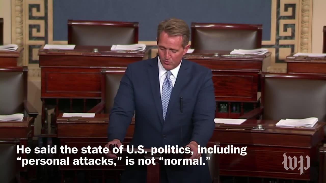 'I Will Not Be Complicit Or Silent': Flake'S Retirement Speech, In_...