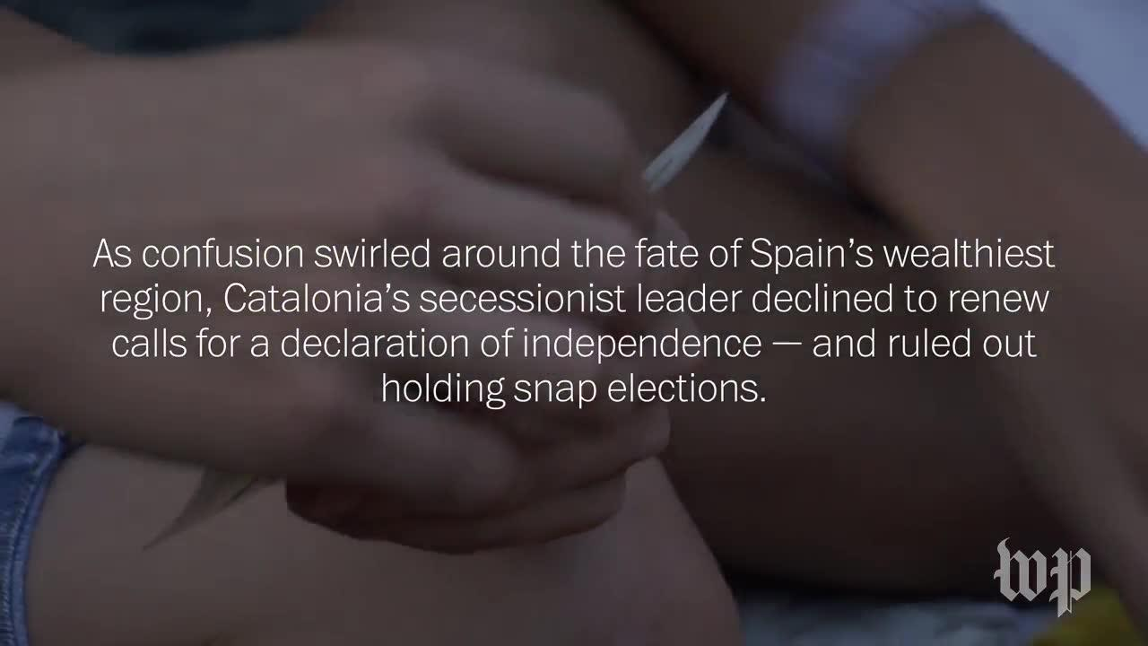 Protestors In Catalonia Hear The Fate Of Their Cause