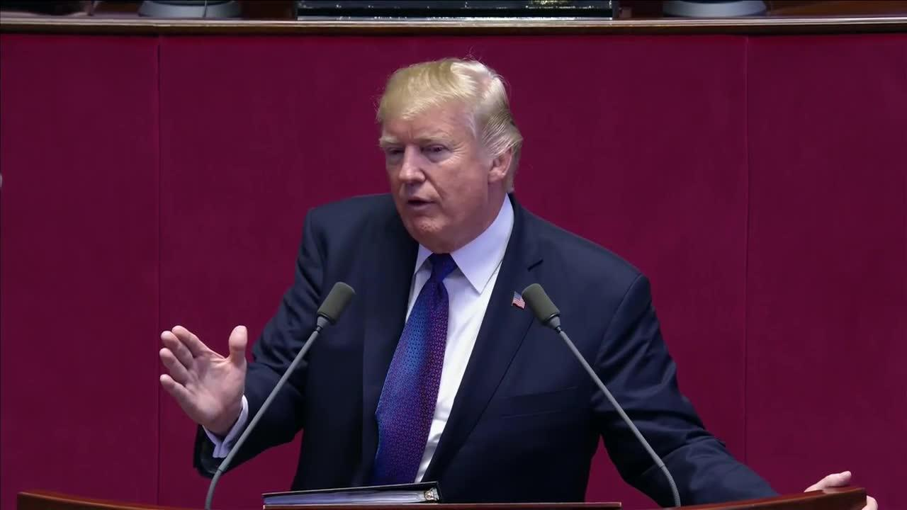 Trump'S South Korea Speech, In 3 Minutes
