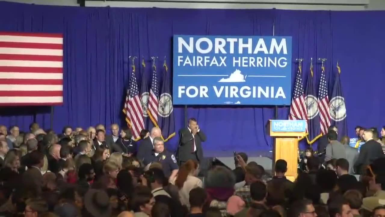 Protesters Disrupt Northam Victory Speech