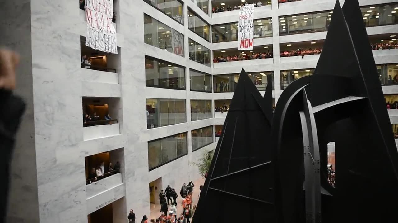 'Dream Act Now:' Students Lead Protest Inside Hart Senate Office B_...