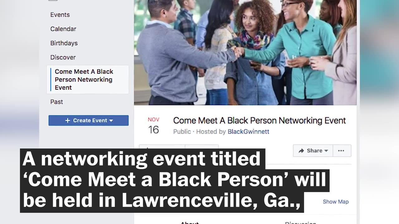 Group Invites Whites To 'Come Meet A Black Person' At Event