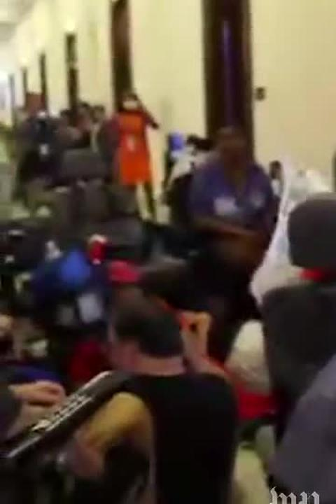 Protesters arrested outside Senate Majority Leader Mitch McConnell's office