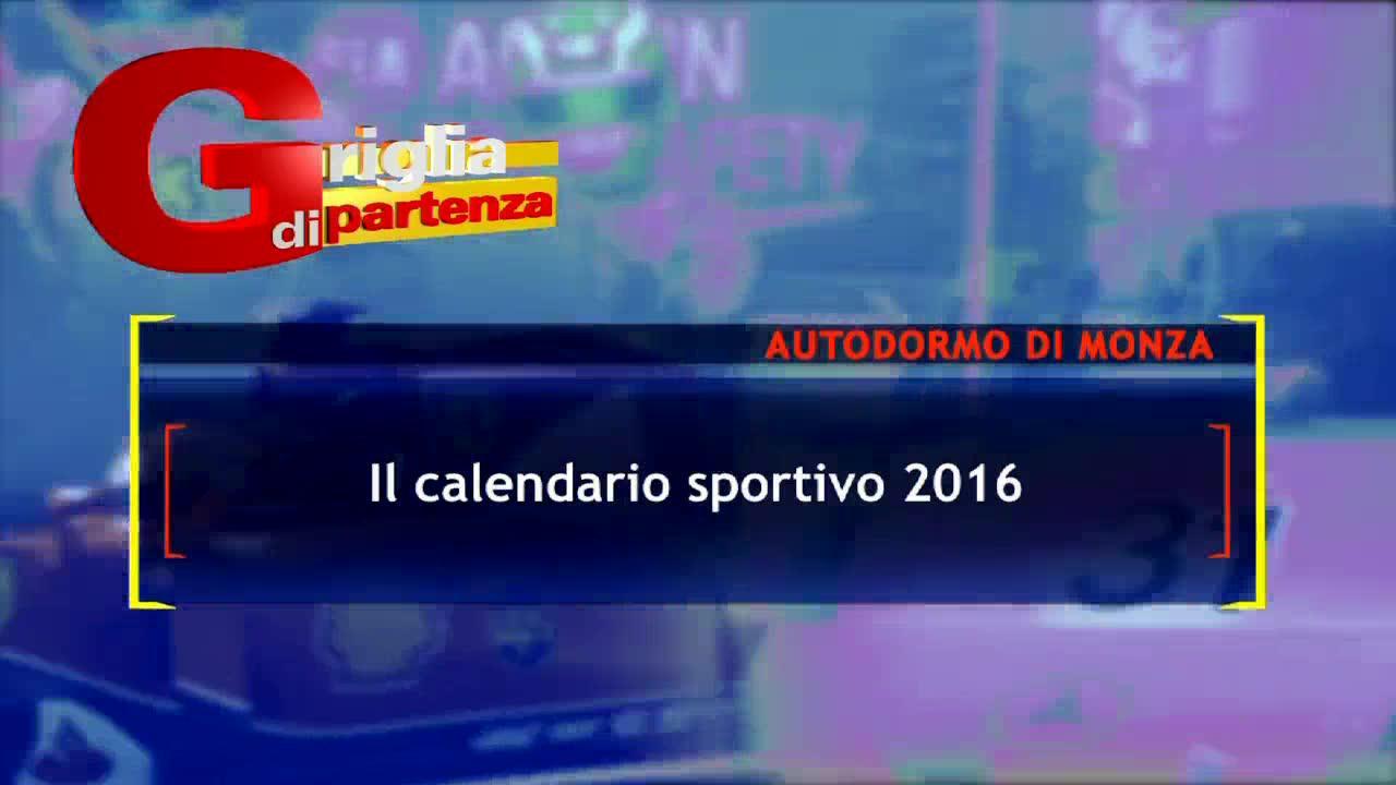 Calendario sportivo 2016