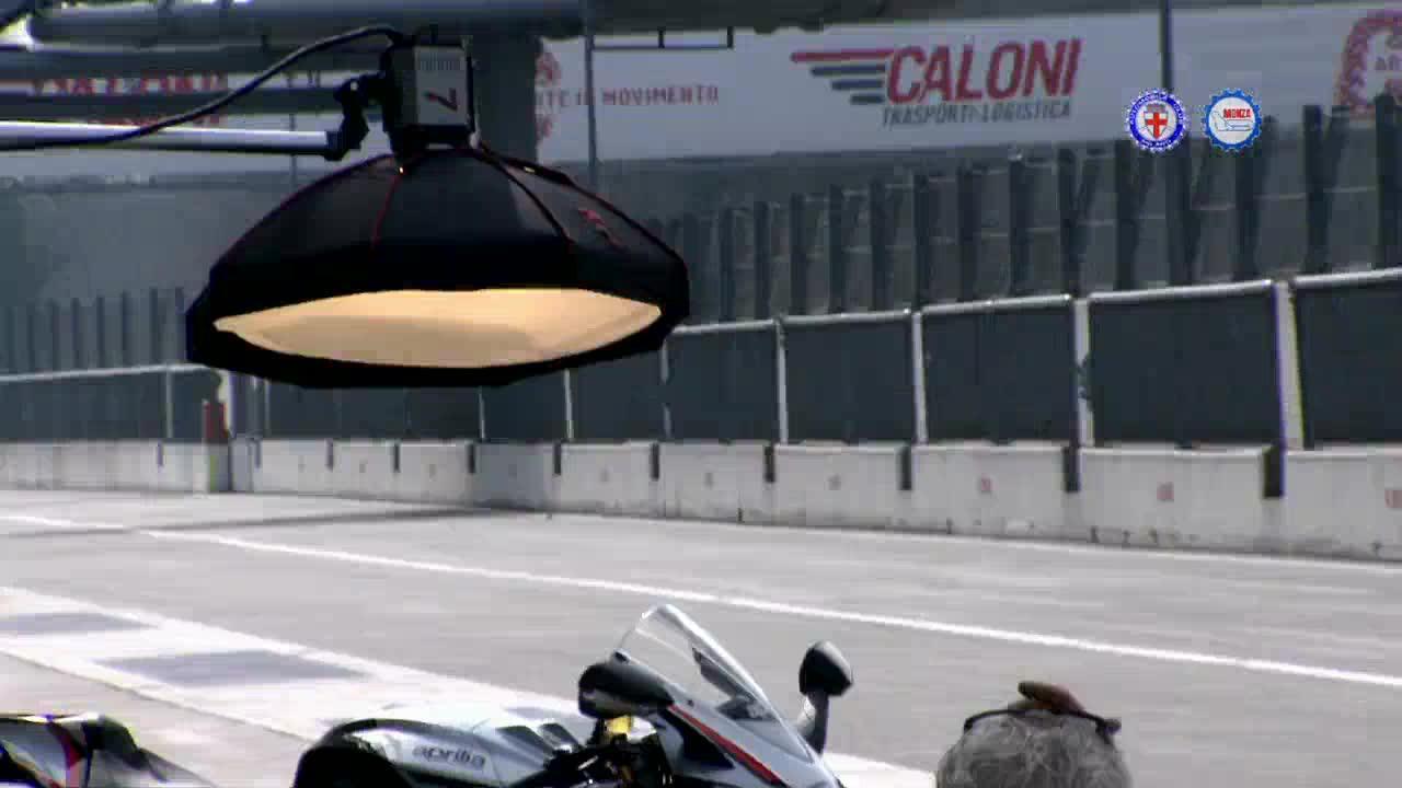 Stefan Bradl di Aprilia in pista a Monza