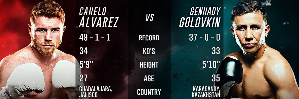 Canelo Alvarez vs. Gennady 'GGG' Golovkin Official Online PPV - Live Stream